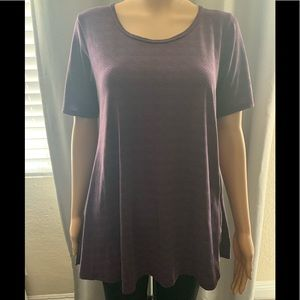LuLaRoe Purple Blouse Size XS